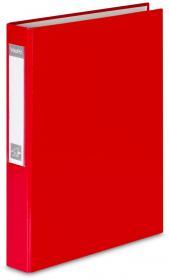 Segregator VauPe FCK, A4, szerokość grzbietu 40mm, do 150 kartek, 2 ringi, czerwony