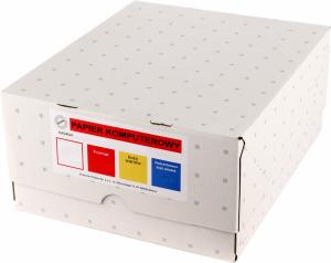 Papier samokopiujący do drukarki igłowej (składanka) Drescher, 390mm, 1+0, bez nadruku