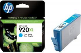 Tusz HP 920XL (CD972AE), 700 stron, cyan (błękitny)