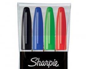 Marker permanentny Sharpie, Fine, okrągła, 1mm, 4 sztuki, mix kolorów