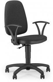 Krzesło obrotowe Nowy Styl Adler CU38, profil GTP, szaro-czarny