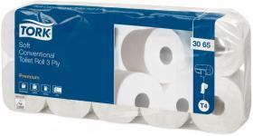 Papier toaletowy Tork Premium, 3-warstwowy, 9.4cmx19.4m, 10 rolek, biały