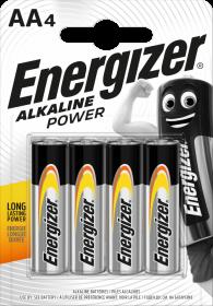 Bateria alkaliczna Energizer, AA, 1.5V, LR6, 4 sztuki