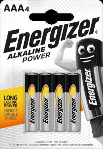 Bateria alkaliczna Energizer, AAA, 1.5V, LR03, 4 sztuki