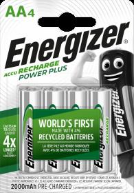 Akumulator Energizer Power Plus, AA, 1.2V, 2000mAh, 4 sztuki