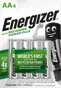 Akumulator Energizer Power Plus, AA, 1.2V, 2000mAh, 4 sztuki