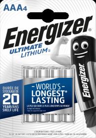 Bateria litowa Energizer Lithium, AAA, 1.5V, L92, 4 sztuki