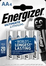 Bateria litowa Energizer Lithium, AA, 1.5V, L91, 4 sztuki