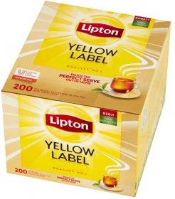 Herbata czarna w torebkach Lipton Yellow Label, 200 sztuk x 2g