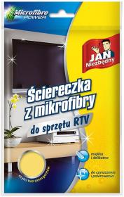 Ściereczka z mikrofibry Jan Niezbędny, do urządzeń RTV, 40x40cm, 1 sztuka, żółty