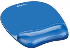 Podkładka pod mysz i nadgarstek Fellowes, żel, 14x202x230 mm, niebieski