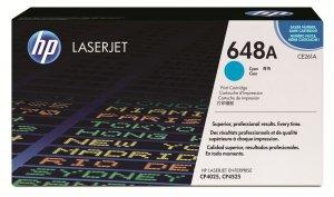Toner HP CE261A (648A), 11000 stron, cyan- błękitny
