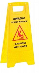 """Tablica ostrzegawcza Merida, """"Uwaga śliska podłoga"""""""