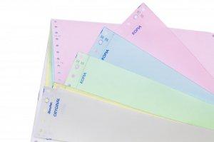 """Papier samokopiujący do drukarki igłowej (składanka) Drescher, 240mmx6"""", 1+2 z nadrukiem, 1200 składek"""