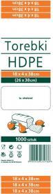 Torebki spożywcze Sarantis, HDPE, 18x4x38cm, 1000 sztuk, biały