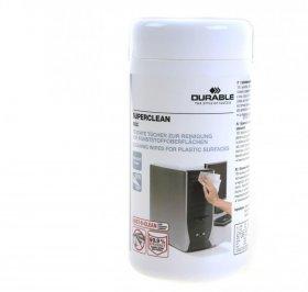 Chusteczki Durable antyelektrostatyczne nasączone bezalkoholowo do plastiku 100 szt.