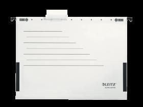 Teczka zawieszana kartonowa Leitz Alpha Active, A4, z rozciągliwymi bokami, 225g/m2, biały