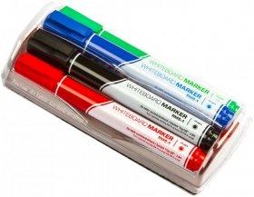 Marker suchościeralny Rystor, okrągła, 4 sztuki, 3mm, mix kolorów + gąbka