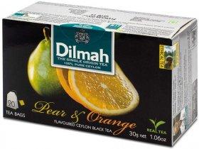 Herbata czarna aromatyzowana w torebkach Dilmah, gruszka i pomarańcza, 20 sztuk x 1.5g