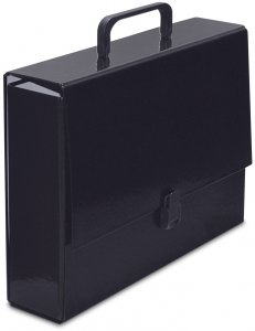 Teczka na klips VauPe Classic II, z rączką,  A4, 80mm, czarny