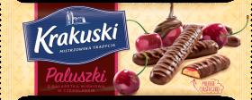 Ciastka paluszki z galaretką Krakuski, wiśniowy, 144g