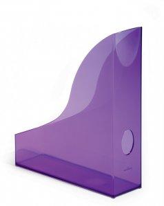 Pojemnik na dokumenty Durable Basic, A4, 73mm, do 730 kartek, przezroczysty fioletowy