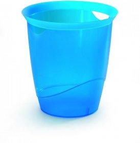 Kosz na śmieci Durable Trend, 16l, przezroczysty niebieski