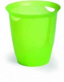 Kosz na śmieci Durable Trend, 16l, przezroczysty zielony