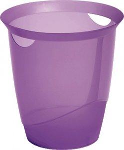 Kosz na śmieci Durable Trend, 16l, przezroczysty fioletowy