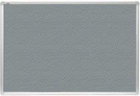 Tablica tekstylna 2x3, w ramie aluminiowej, 150x100cm, szary
