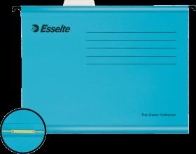 Teczka zawieszana kartonowa Esselte Classic, z wąsem skoroszytowym, A4, 330x245mm, 210g/m2, niebieski