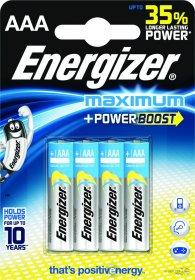 Bateria alkaliczna Energizer Maximum, AAA, 1.5V, LR03, 4 sztuki
