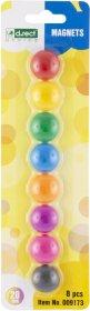 Magnesy D.Rect, 20mm, 8 sztuk, mix kolorów