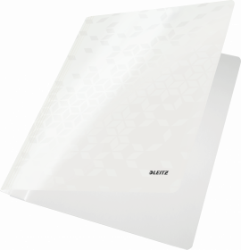 Skoroszyt kartonowy  bez oczek Leitz Wow, A4, do 250 kartek, 80g/m2, biały