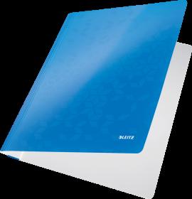 Skoroszyt kartonowy  bez oczek Leitz Wow, A4, do 250 kartek, 80g/m2, niebieski