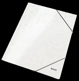 Teczka kartonowa z narożną gumką Leitz Wow, A4, 3mm, biały