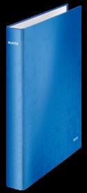 Segregator Leitz Wow, A4, szerokość grzbietu 40mm, do 230 kartek, 4 ringi, niebieski