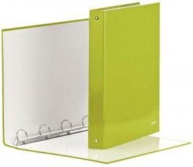 Segregator Leitz Wow, A4, szerokość grzbietu 40mm, do 230 kartek, 4 ringi zielony