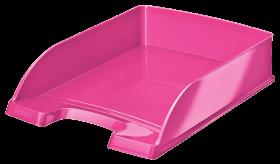 Półka na dokumenty Leitz Wow Plus, A4, plastikowa, różowy