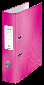 Segregator Leitz Wow 180°, A4, szerokość grzbietu 80mm, do 600 kartek, różowy