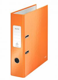 Segregator Leitz Wow 180°, A4, szerokość grzbietu 80mm, do 600 kartek, pomarańczowy