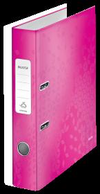 Segregator Leitz Wow 180°, A4, szerokość grzbietu 50 mm, do 350 kartek, różowy