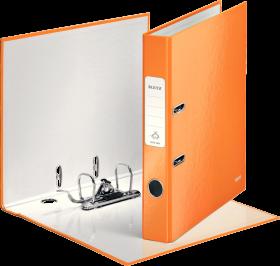Segregator Leitz Wow 180°, A4, szerokość grzbietu 50 mm, do 350 kartek, pomarańczowy