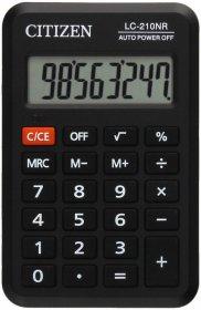 Kalkulator kieszonkowy Citizen LC-210, 8 cyfr, czarny