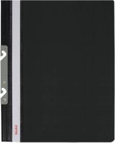 Skoroszyt plastikowy hakowy Biurfol, twardy, A4, do 200 kartek, czarny