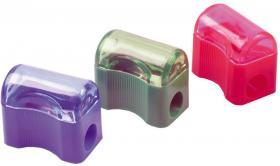 Temperówka z pojemnikiem Centrum, plastik, 1 otwór, mix kolorów