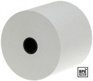 Rolka papierowa termiczna Emerson, 57mm x 10m, 50+/- 6g/m2, BPA Free, biały