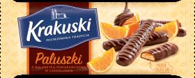 Ciastka paluszki z galaretką Krakuski, pomarańczowy, 144g