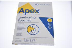 Folia do laminacji Apex light, 216x303mm, A4, 80 µm, błyszcząca, 100 sztuk
