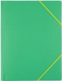 Teczka plastikowa z gumką D.Rect, A4, 40mm, zielony
